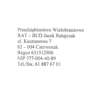 RAT-BUD Jacek Ratajczak